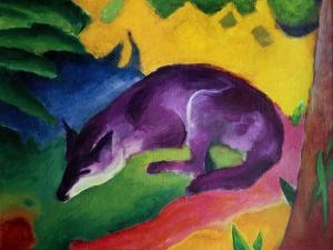 Blue Fox, 1911 by Franz Marc
