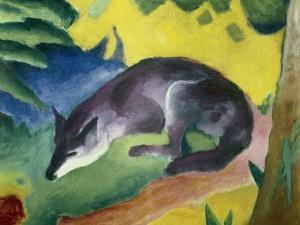 Blue Fox by Franz Marc