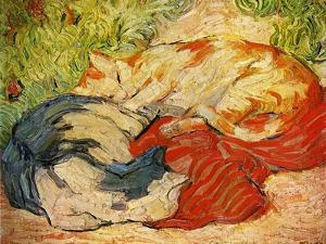 Cats, 1909-10 by Franz Marc