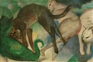 Cats Playing by Franz Marc