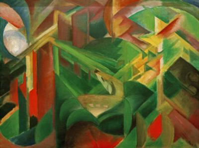 Deer in the Convent Garden by Franz Marc