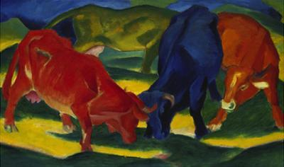 Fighting Oxen, 1911 by Franz Marc