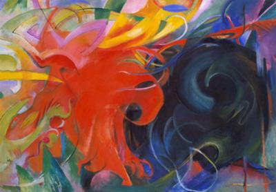 Fighting Shapes, 1914 by Franz Marc