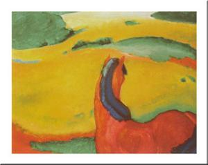 Horse In A Landscape, c.1910 by Franz Marc