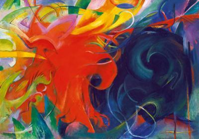 Kämpfende Formen by Franz Marc