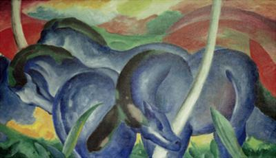 Large Blue Horses, 1911 by Franz Marc