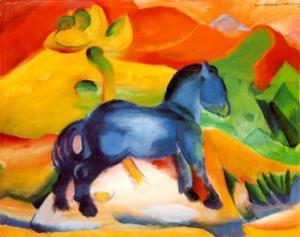 Little Blue Horse by Franz Marc