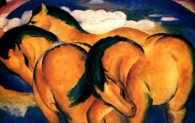 Little Yellow Horses, 1912 by Franz Marc