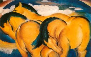 Little Yellow Horses, c.1912 by Franz Marc