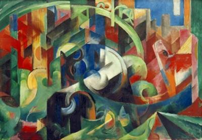 Painting with Cows I by Franz Marc
