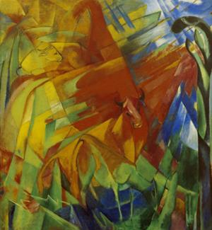 Picture with Bulls by Franz Marc
