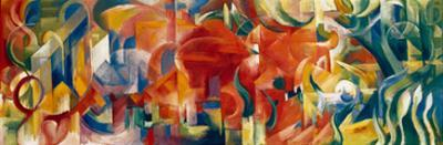 Playing Forms, 1914 by Franz Marc