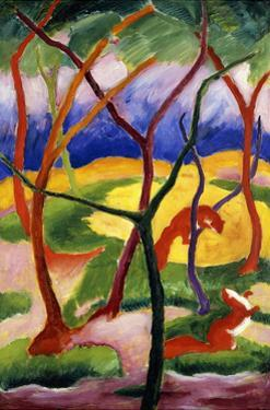 Playing Weasels by Franz Marc