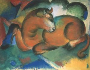 Red bull by Franz Marc