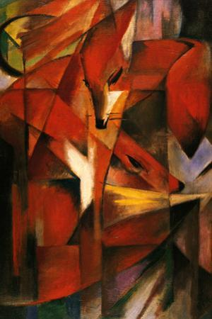 Franz Marc (Red Foxes) Plastic Sign