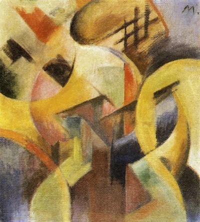 Small Composition I, 1913 by Franz Marc