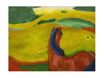 Small Composition III. Oil on canvas. by Franz Marc