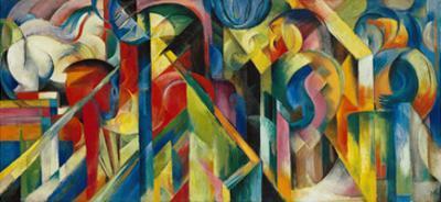 Stables (Stallungen), 1913 by Franz Marc