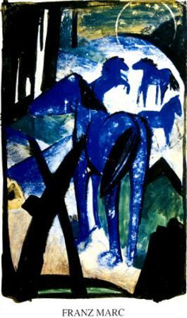 The Blue Horse by Franz Marc