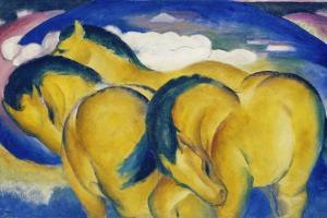 The Little Yellow Horses, 1912 by Franz Marc