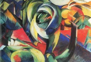 Franz Marc The Mandrill Art Print Poster