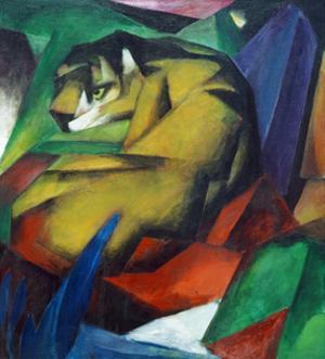 The Tiger 1912 by Franz Marc