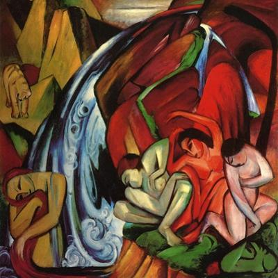 The Waterfall, 1912 by Franz Marc