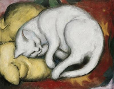 The White Cat by Franz Marc