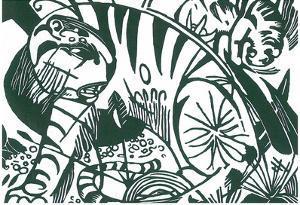 Franz Marc Tiger Art Print Poster