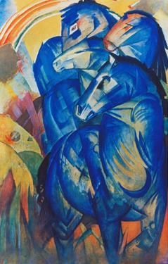 Tower of Blue Horses, 1913 by Franz Marc