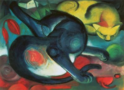 Two Cats by Franz Marc