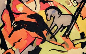 Two Horses, 1911/12 by Franz Marc