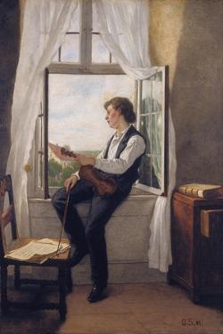 The Violinist at the Window by Franz Otto Scholderer