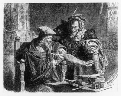 Faust Making His Contract with Mephistophiles
