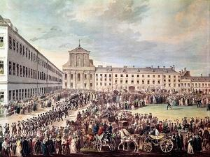 Funeral of Ludwig Van Beethoven in Vienna, 29th March 1827 by Franz Stober