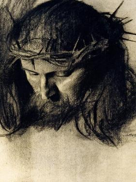 Head of Christ, circa 1890 by Franz von Stuck