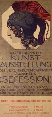 International Art Exhibition Poster by Franz von Stuck