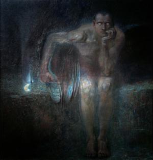 Lucifer, 1890 by Franz von Stuck