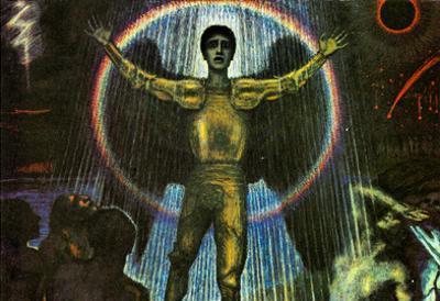 Franz von Stuck The Angel of the Court Art Print Poster
