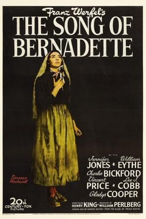 """Franz Werfel's the Song of Bernadette, 1943, """"The Song of Bernadette"""" Directed by Henry King"""