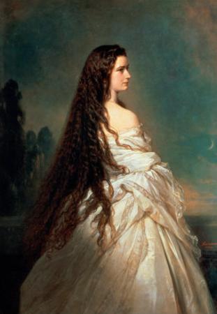 Elizabeth of Bavaria (1837-98), Wife of Emperor Franz Joseph I of Austria (1830-1916) by Franz Xaver Winterhalter