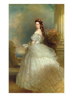 Empress Elizabeth of Austria (Sissi), 1865 by Franz Xaver Winterhalter