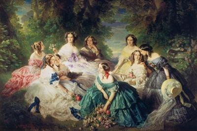 Empress Eugenie (1826-1920) Surrounded by Her Ladies-In-Waiting, 1855