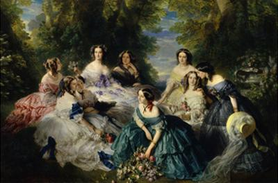 Empress Eugenie Surrounded by Ladies-In-Waiting, 1855