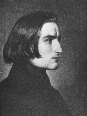 Franz Liszt by Franz Xaver Winterhalter