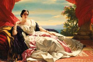 Portrait of Leonilla, Princess of Sayn-Wittgenstein-Sayn, 1843 by Franz Xaver Winterhalter
