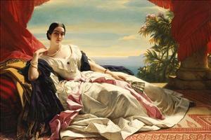 Portrait of Leonilla, Princess of Sayn-Wittgenstein-Sayn by Franz Xaver Winterhalter