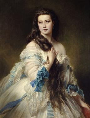 Portrait of Mrs. Rimsky Korsakov, 1864 by Franz Xaver Winterhalter