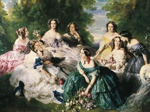 Portrait of the Empress Eugenie Surrounded by Her Ladies in Waiting by Franz Xaver Winterhalter