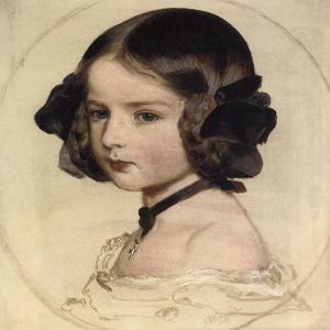 Princess Clotilde of Saxe-Coburg and Gotha, (1846-192), 1855 by Franz Xaver Winterhalter
